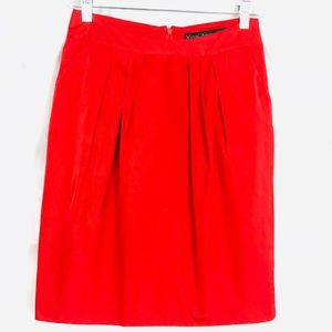 320399bfa Yigal Azrouel Red Pleated Skirt with Pockets Sz 2